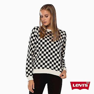 大學T 女裝 黑白格 - Levis
