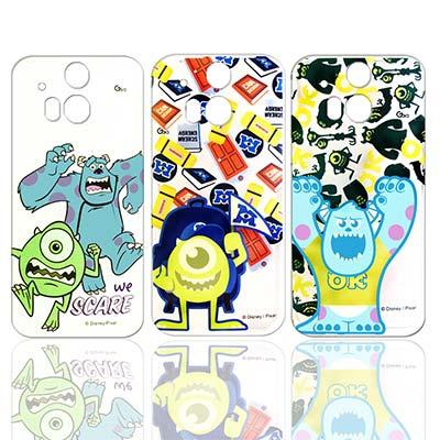迪士尼 HTC One M8 透明軟式手機殼 (怪獸大學款)