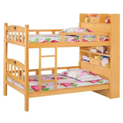 愛比家具 木白3.5尺多功能書架型雙層床(全組)(不含床墊)
