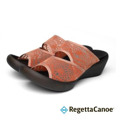 RegettaCanoe-CJLW-5518-優雅樂步休閒鞋-淡橘色