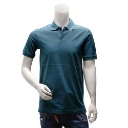 Y-3 adidas山本耀司經典LOGO素面純棉立領短袖POLO衫(藍)