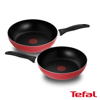 [買一送一超值組] Tefal法國特福 新手紅系列26CM不沾深平底鍋 (8H)