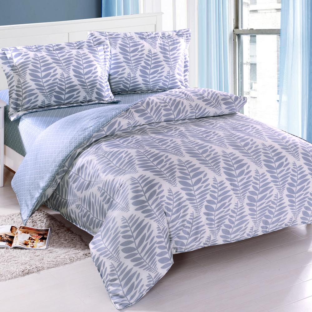 DON靜謐沁藍 雙人四件式天絲全舖棉兩用被床包組