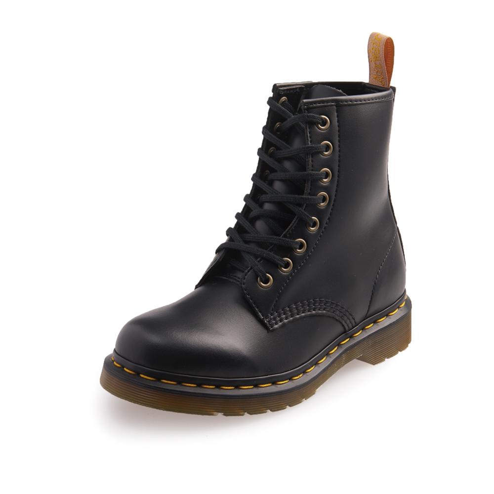 Dr.Martens-經典1460 8孔扁線馬汀馬丁靴-女款-黑