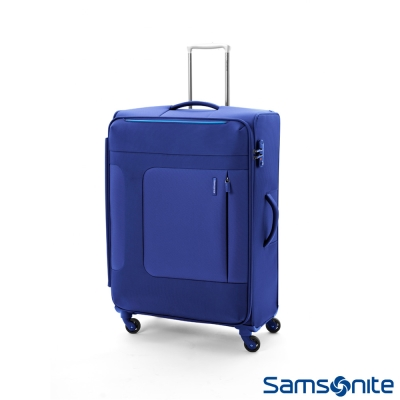 Samsonite新秀麗 28吋 Asphere可擴充布面軟殼行李箱(藍)