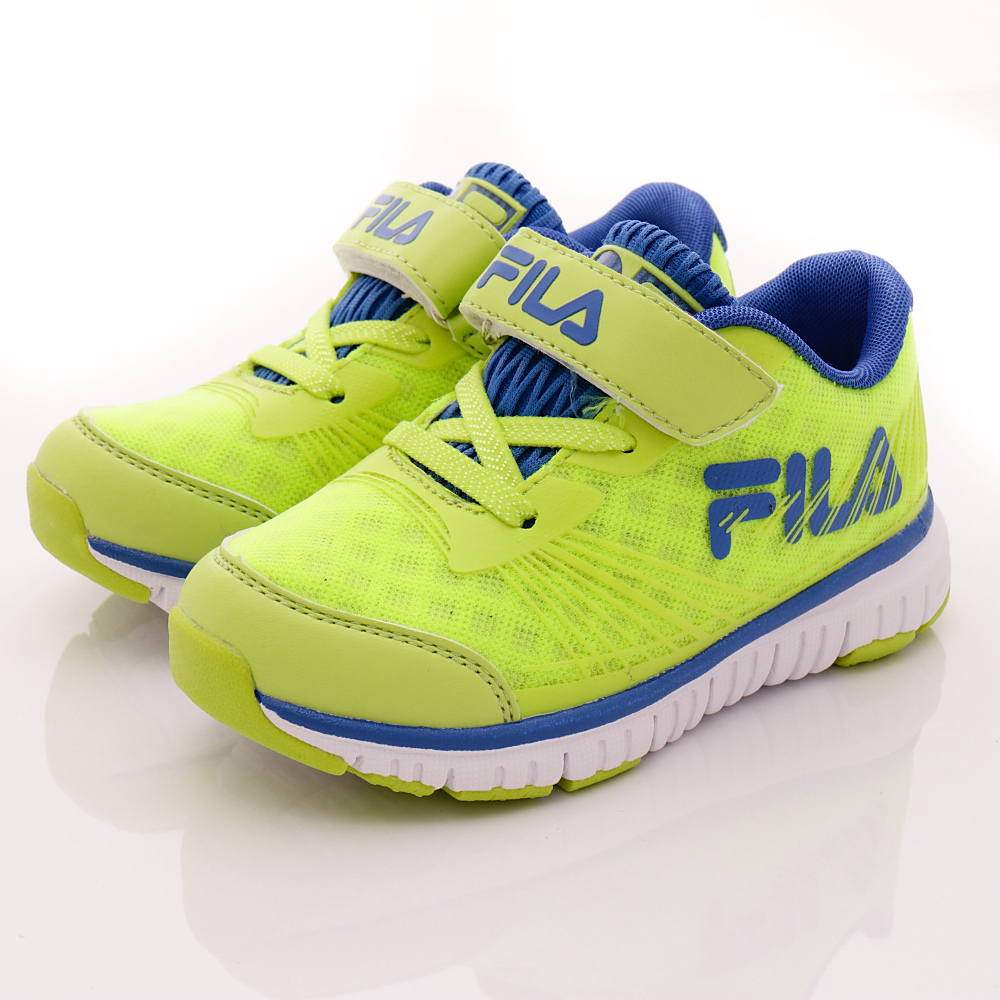 FILA頂級童鞋款-超輕機能穩定款-422R663綠藍(中小童段)HN