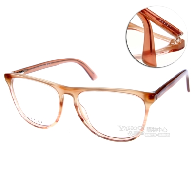 GUCCI眼鏡 經典大框系列/漸層透棕#GG3518 WVS