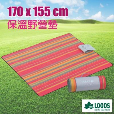 【日本 LOGOS】皮克尼克保溫野營墊(170X155cm).防潮地墊.露營墊.睡墊