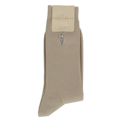 TRUSSARDI 棉質紳士休閒襪【褐色】