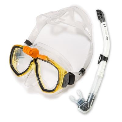 V.DIVE 威帶夫潛水精品組-GoProT面鏡-211G-檸黃色