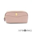 SPRING-永恆不變的優雅真皮雙層手拿包-薔薇粉紫