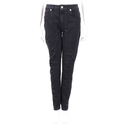 BLUGIRL-FOLIES 黑色修身車縫設計棉質牛仔褲