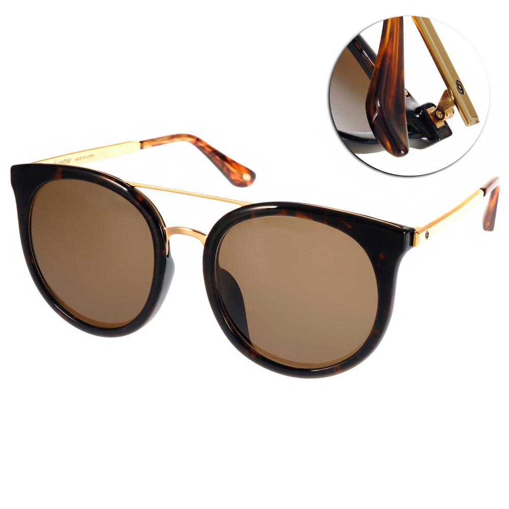 Go-Getter太陽眼鏡 韓系貓眼款/琥珀棕-金#GS4014 C05