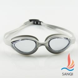 SANQI三奇 夏日必備抗UV防霧休閒泳鏡(102-灰F)