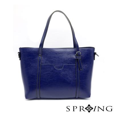 SPRING-清新時尚兩用側肩包-寶石藍