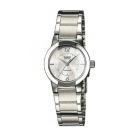 CASIO 氣質典雅直切面造型設計指針腕錶(LTP-1230D-7C)白面/22mm
