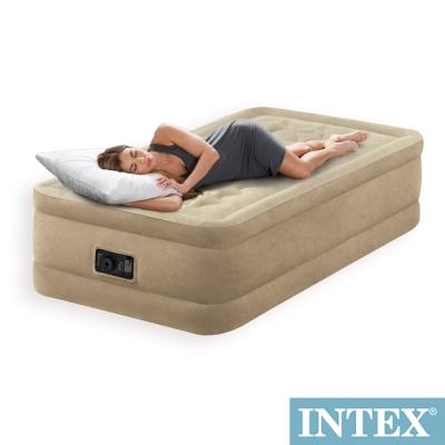 INTEX超厚絨單人加大寬99cm充氣床(內建電動幫浦)fiber-tech(64455)