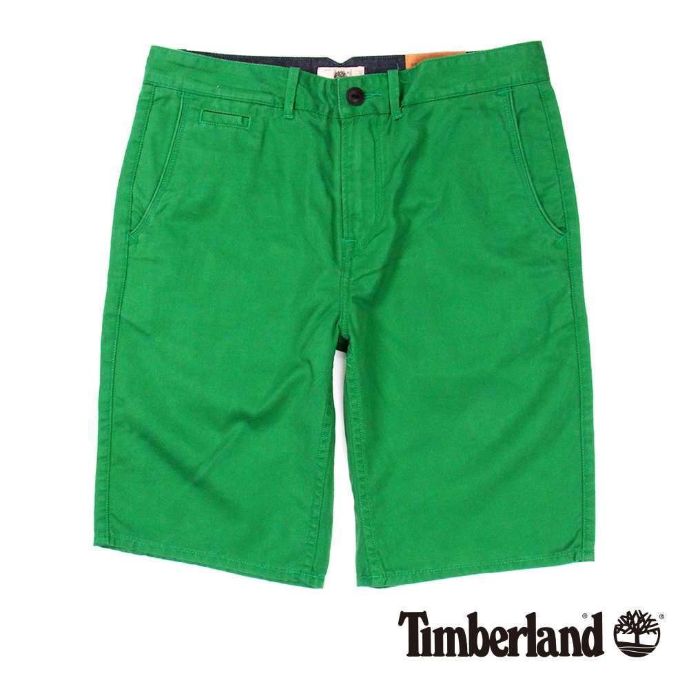 Timberland 男款雨林綠貼袋工作休閒短褲