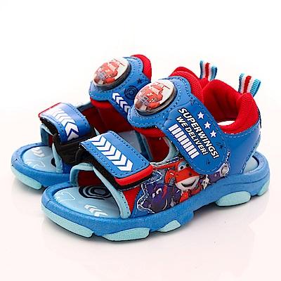 SUPER WINGS LED電燈涼鞋款 EI3812紅(中小童段)