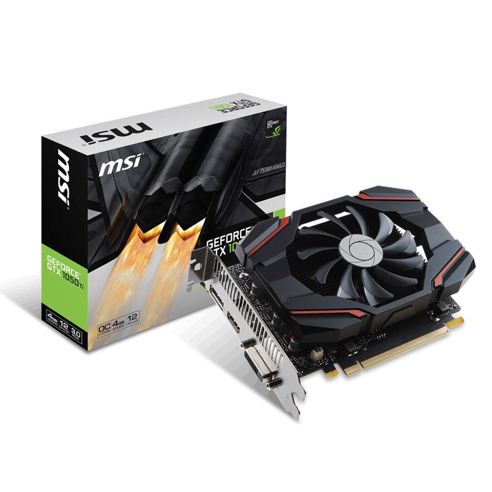 微星顯示卡GeForce GTX 1050 Ti 4G OCV2