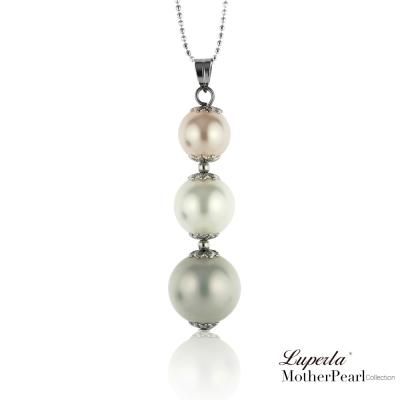 大東山珠寶 南洋貝寶珠三色串珠墬飾 粉彩