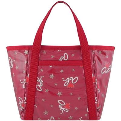 agnes b. 紅色ab.heart圖樣手提包