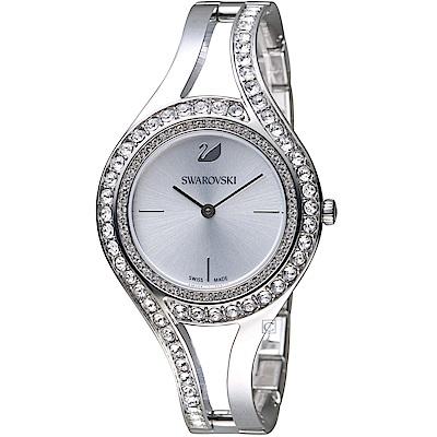 施華洛世奇SWAROVSKI耀眼流線時尚腕錶(5377545)-31mm