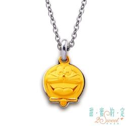 甜蜜約定 Doraemon 歡笑哆啦A夢黃金/白鋼項鍊