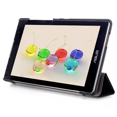 華碩 ZenPad C Z170C 卡斯特紋三折式【皮套+保護貼組】