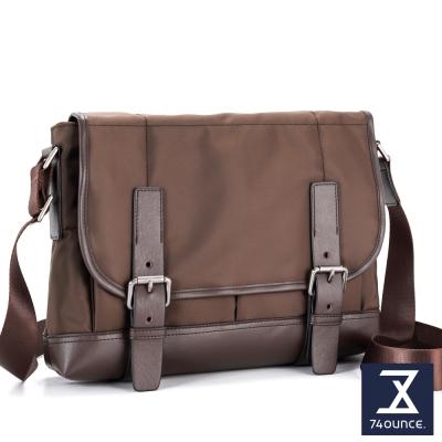 74盎司-Presence-雙帶設計側背包-G-874-咖啡