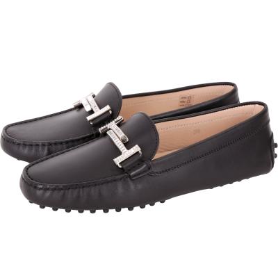 TOD'S  Double T 施華洛世奇水鑽飾豆豆休閒鞋(女鞋/黑色)