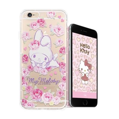 My Melody iPhone 6s plus 5.5吋空壓手機殼(玫瑰美樂蒂...