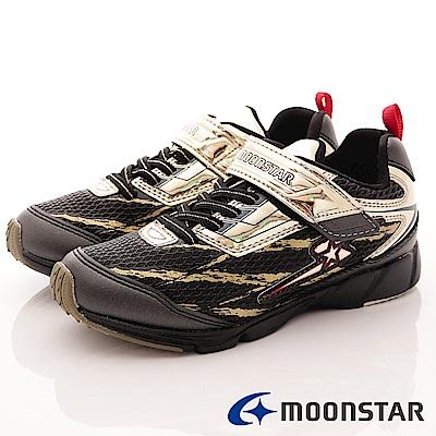 日本月星 頂級競速童鞋 勝戰獸系列機能運動鞋 EI233 金 (中大童段)
