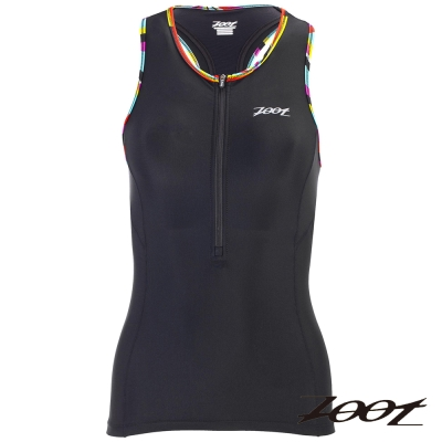 ZOOT 專業級半拉式鐵人上衣(女) Z1606008(炫彩黑)
