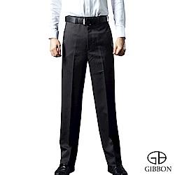 GIBBON 保暖細刷毛直紋平口西裝褲‧深灰30~42