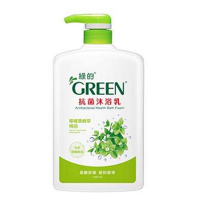 綠的GREEN 抗菌沐浴乳 檸檬香蜂草精油1000ml
