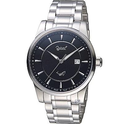 Ogival 愛其華 大器風範紳士錶(350-03MS)黑/40mm