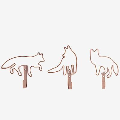 Dailylike 壁面法式衣帽掛鉤組(3入)-狐狸