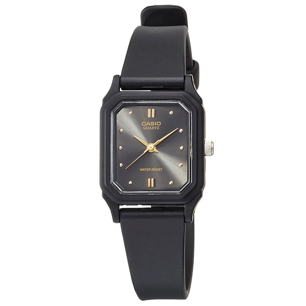 CASIO 輕便巧小運動指針錶(LQ-142E-1A)-黑面x黑-22mm