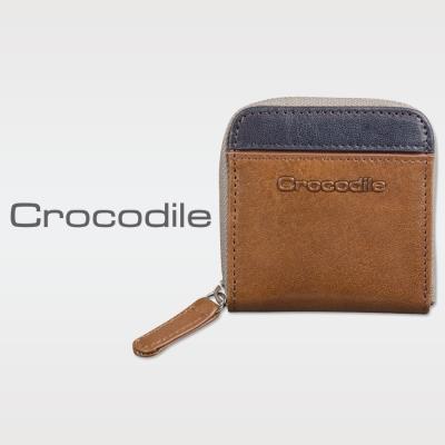 Crocodile Naturale系列Easy輕巧拉鍊零錢包 0103-08101-02