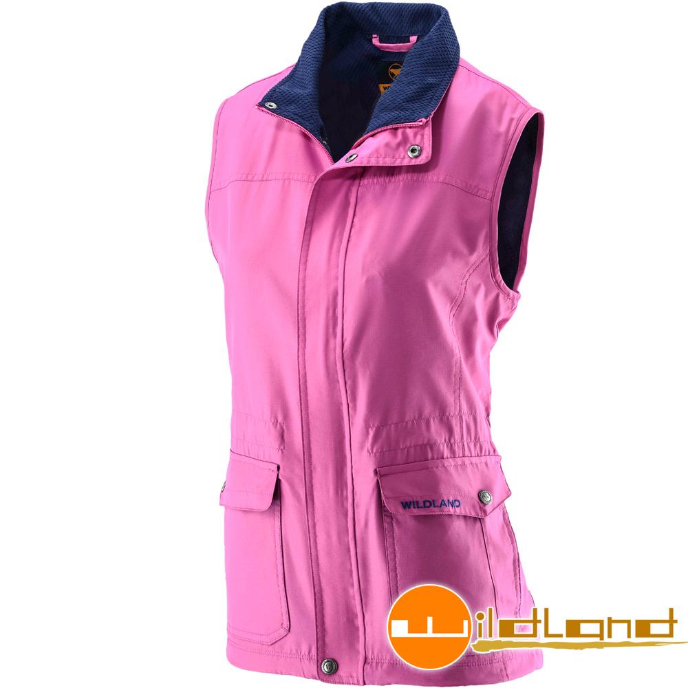Wildland 荒野 0A22703-09桃紅色 女 防風時尚保暖背心