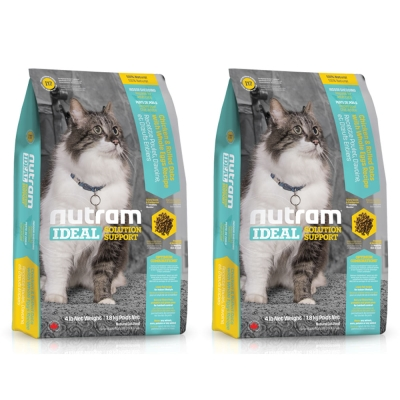 Nutram紐頓 專業理想系列 - I17 室內化毛貓 雞肉燕麥 6.8kg x 2包入