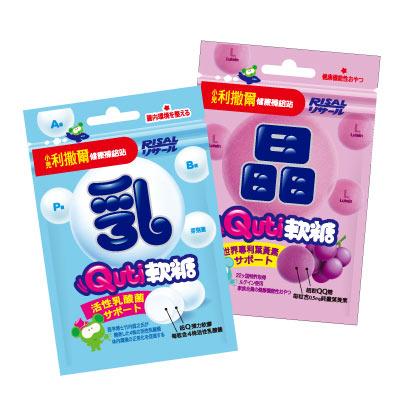 【小兒利撒爾】Quti軟糖24包綜合組(乳酸菌12包+晶明葉黃素12包) @ Y!購物