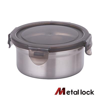 韓國Metal lock 圓形不鏽鋼保鮮盒460ml