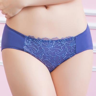 莎薇 時尚花卉M-LL低腰三角褲(深海藍)