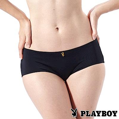 PLAYBOY內褲 經典無痕三角褲-兩入組(黑色PL211327)