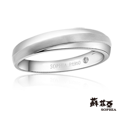 蘇菲亞SOPHIA 結婚戒指-相守一生鉑金鑽石男戒