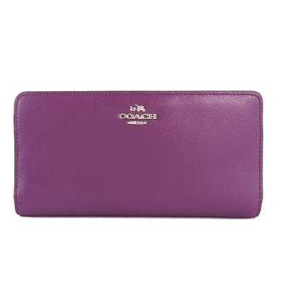 COACH-MADISON-素面皮革長夾-紫
