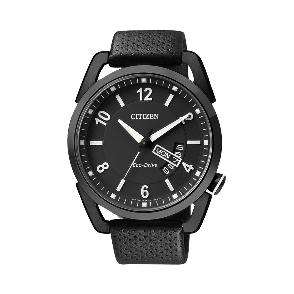 CITIZEN Eco-Drive 逆光奇蹟光動能腕錶(AW0015-08E)-IP黑/42mm