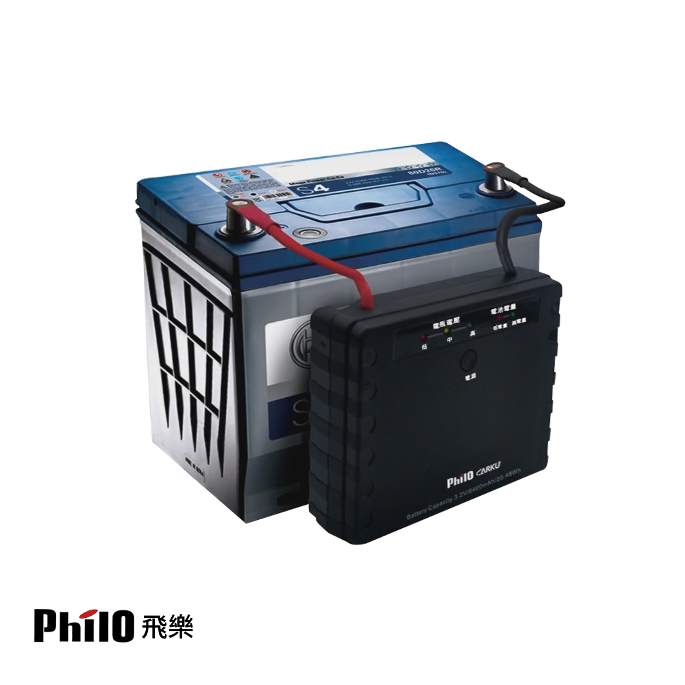 Philo 飛樂 LIP-PD10磷酸鋰鐵電瓶外掛式救車備用電源-蜂鳴版